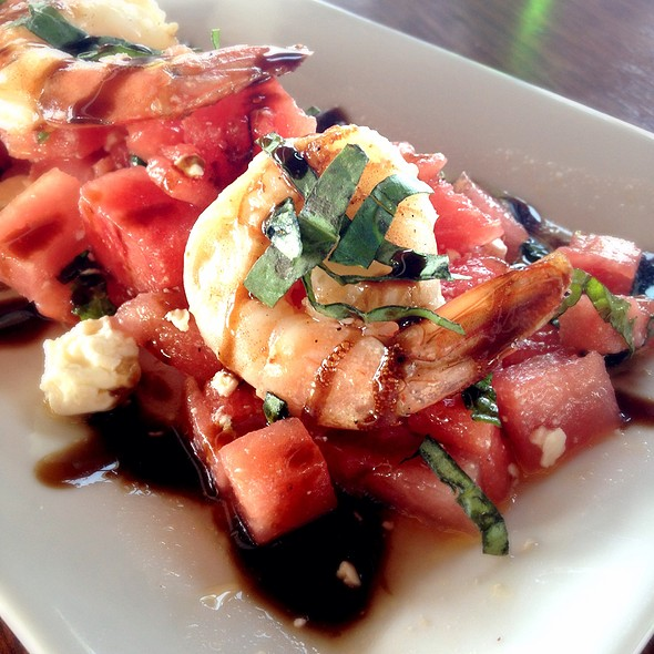 Watermelon shrimp salad @ The Sloppy Tuna
