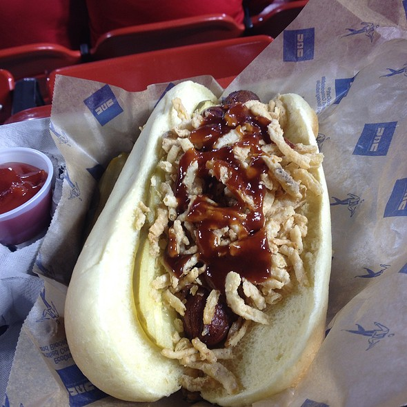 St. Louis Bbq Bacon Wrapped Hot Dog