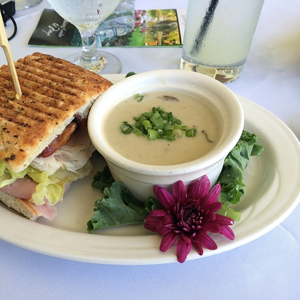 Club Panini With Mushroom Bisque Soup @ Grand Tradition Estate And Garden