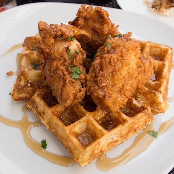 Fried Chicken and Waffles - GT Fish and Oyster, Chicago, IL