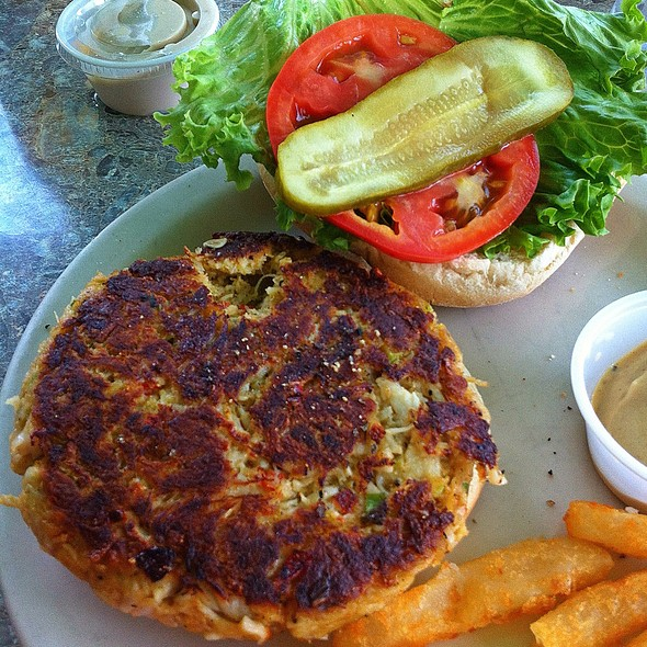 Crabcake Sandwich @ Rod And Reel Pier Restaurant