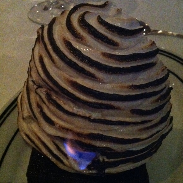 Baked alaska @ The Oceanaire Seafood Room