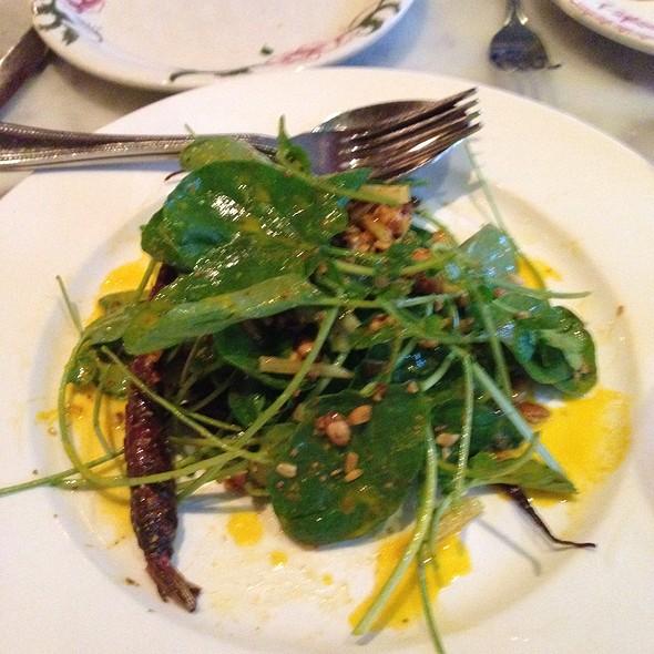 Water Cress Salad With Heirloom Carrots @ Bar La Grassa