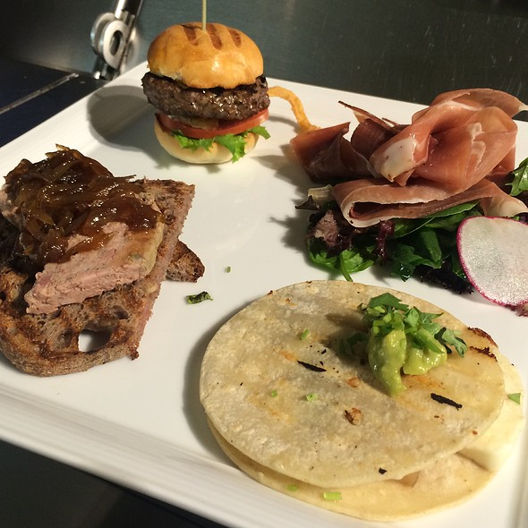 """Turf"" Flat Kobe Beef Slider Pork Belly Quesadilla Country Pate Toast Charcuterie"
