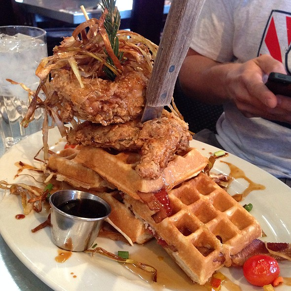 Sage Fried Chicken And Waffles @ Hash House A Go Go