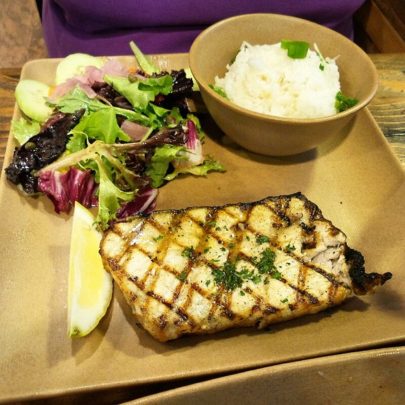 Grilled Swordfish @ The Fish Shop Hermosa Beach