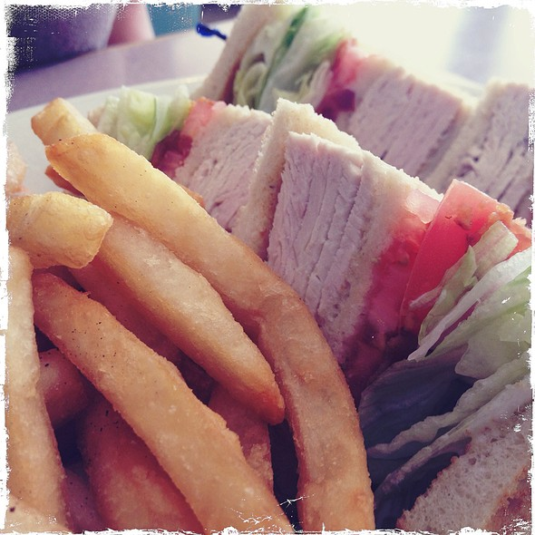 Turkey Club Sandwich @ Stewart Airport Diner