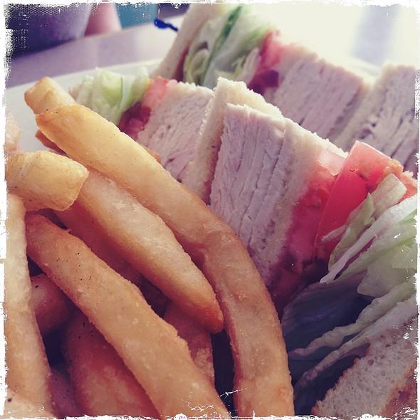 Turkey Club Sandwich @ Stewart Airport Diner
