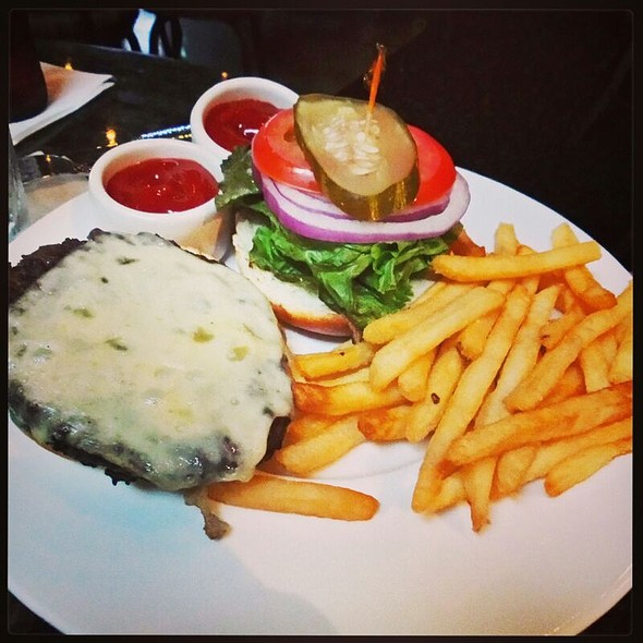 burger and fries @ Humphrey's By The Bay
