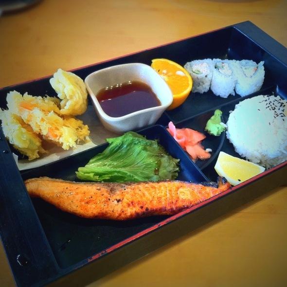 Salmon Shioyaki Bento @ Genroku Japanese Restaurant