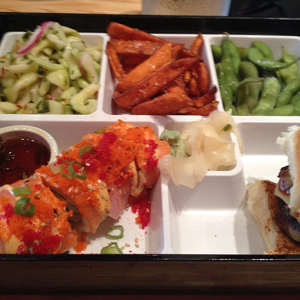 bento box @ The Cowfish Sushi Burger Bar