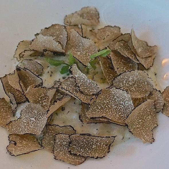Umbrian Italian truffle risotto, black truffle butter, parmigiano-reggiano, chives @ FARM at The Carneros Inn