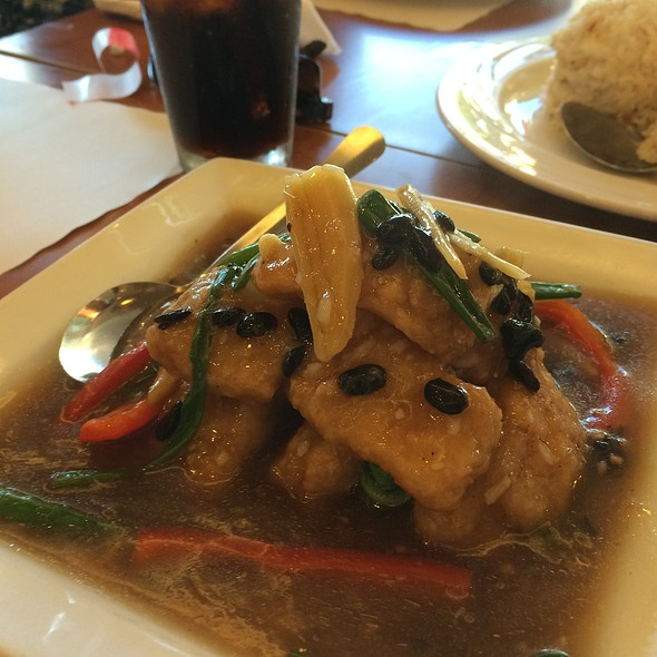 Filet Of Fish With Black Bean Sauce