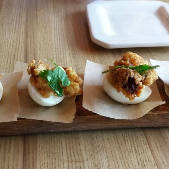Deviled Egg Oysters @ Barrel 31