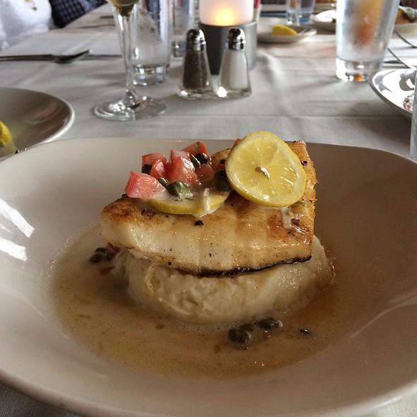Sea Bass Lemon Butter Smashed Potato - Rusty Pelican Restaurant, Newport Beach, CA