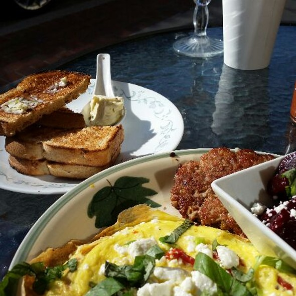 Goat cheese and sundried tomatoes frittata @ Morning At Maggies Omelette