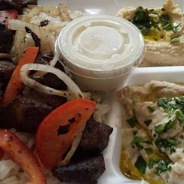 Lamb Kabob Platter @ Shawarma Falafel