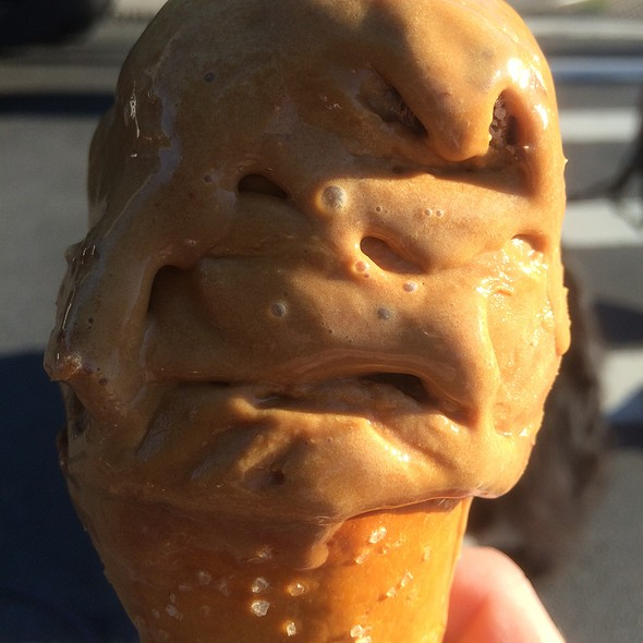 Salted Crack Caramel In A Pretzel Cone @ Ample Hills Creamery