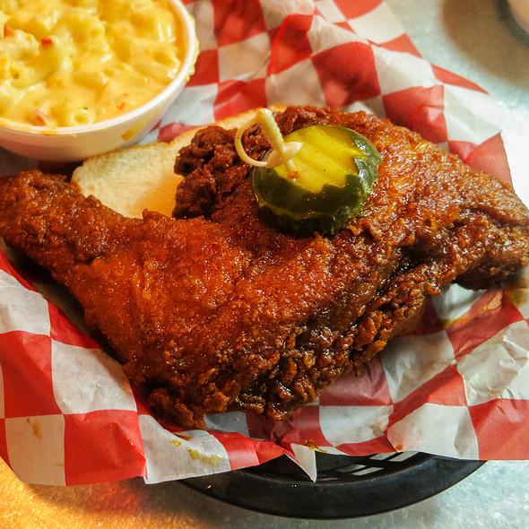 Small Dark Plate - Hot @ Hattie B's Hot Chicken
