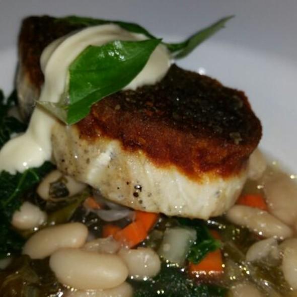 Sea bass @ Oyster Club