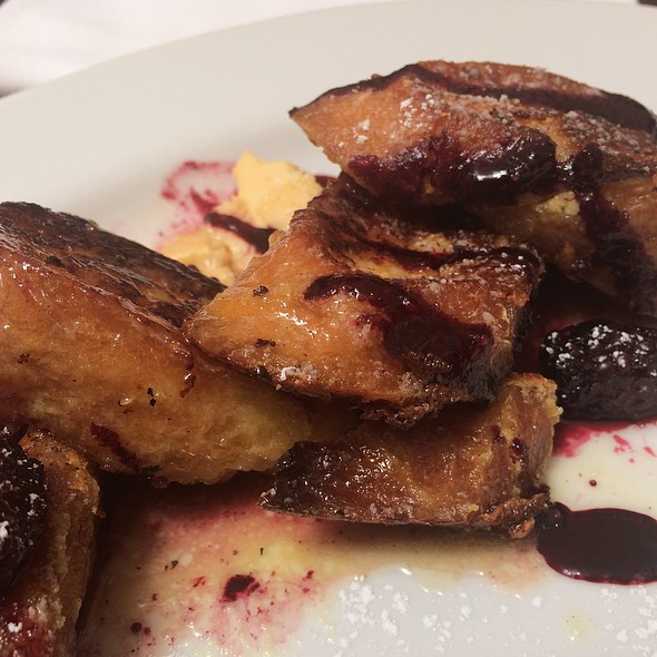 French Toast With Orange Cardamom Butter And Berries @ Foreign Cinema