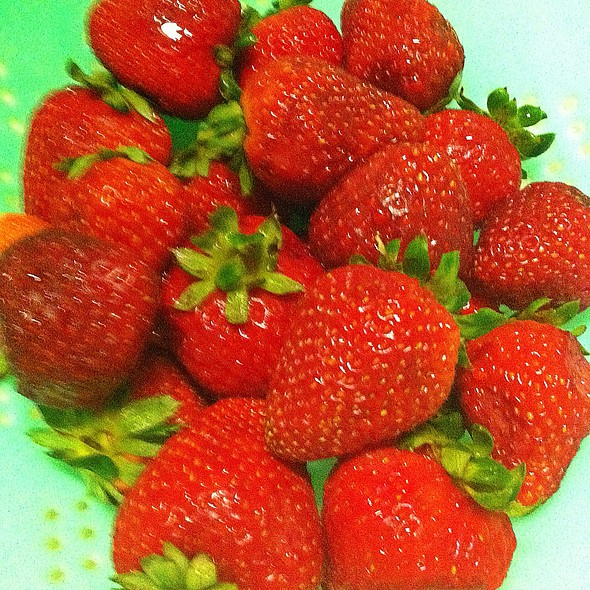 Fresh Strawberries @ Casa Olive