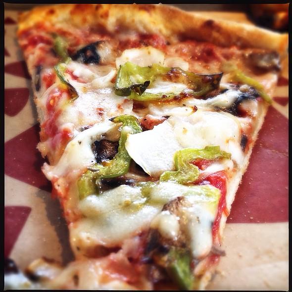 Slice Of Papa Gino's Onion, Peppers, And Mushroom Pizza @ Entercom Communications