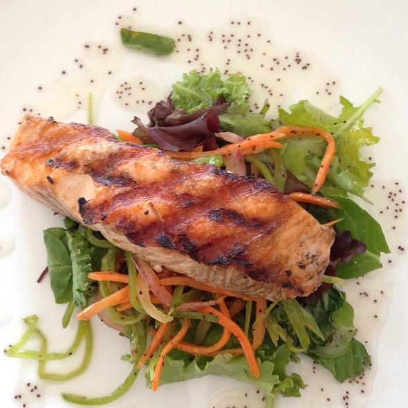 Grilled Salmon Snow Pea Salad - Elements Café, Haddon Heights, NJ