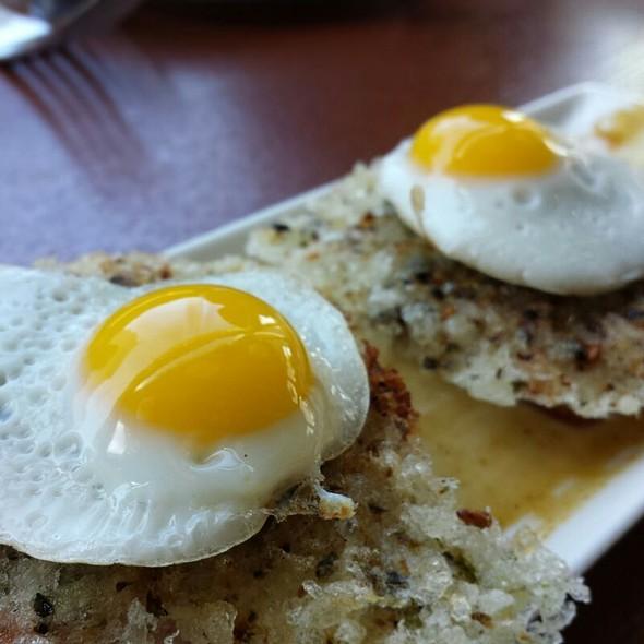 """Spam Musubi"" Mochi Crusted Smoked Pork Arabiki Meatloaf, Quail Egg @ MW Restaurant"