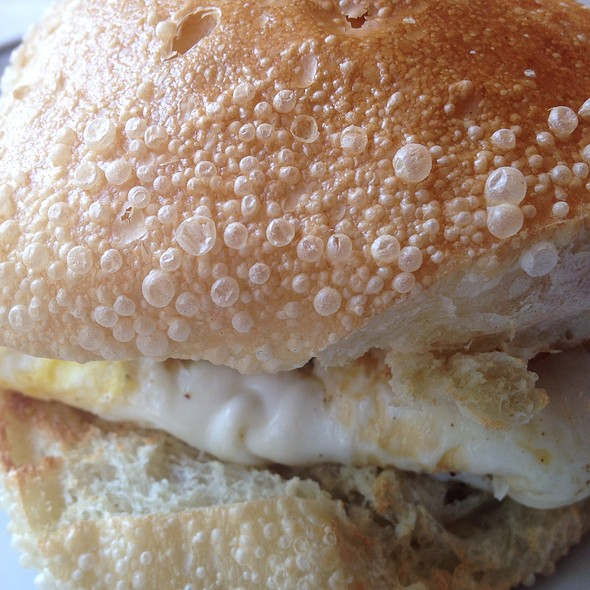 Sausage, Egg And Cheese Sandwich @ Maison Mathis