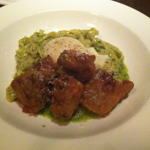 Tagliatelle With Pork Belly & Poached Egg
