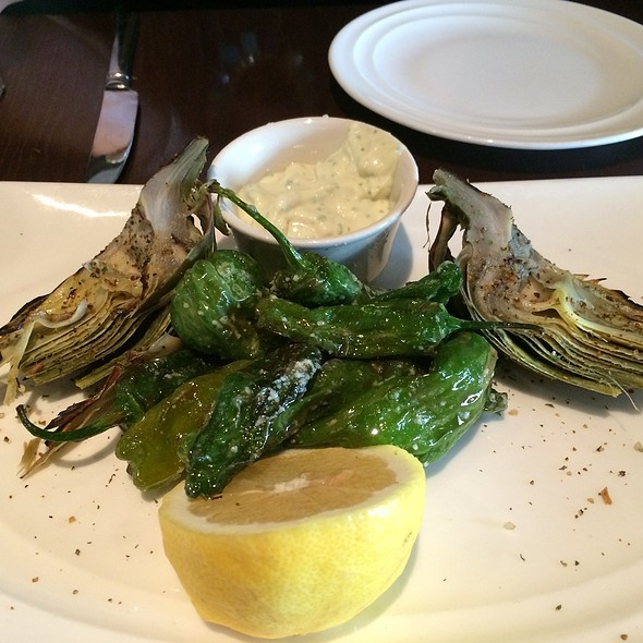 Grilled Artichoke With Shishito Peppers - Vault 164, San Mateo, CA