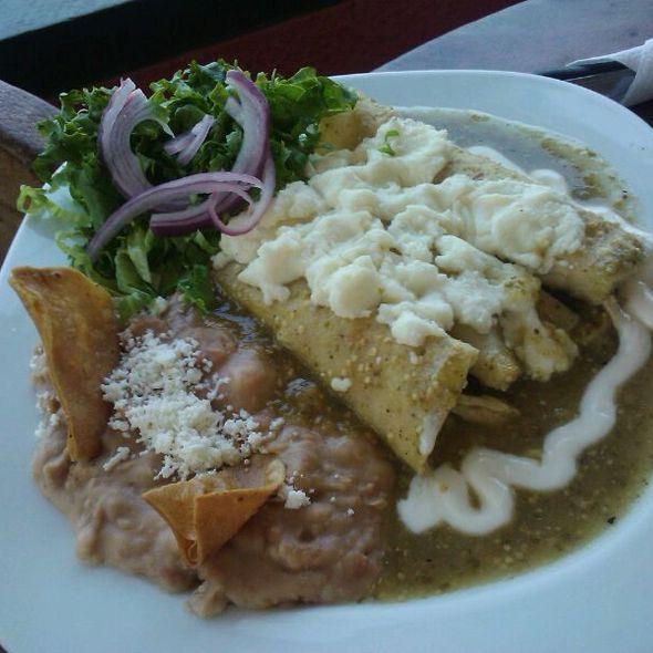 Enchiladas Verdes Gratinadas @ Cafe La Paloma
