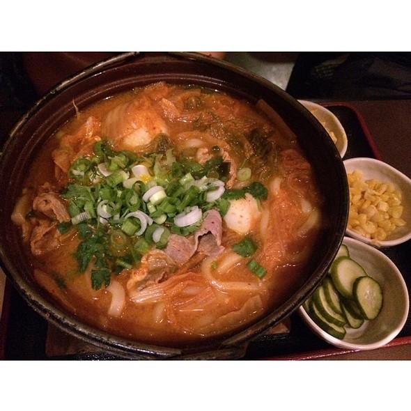 Kimchi Pork Udon Noodles @ Guppy House