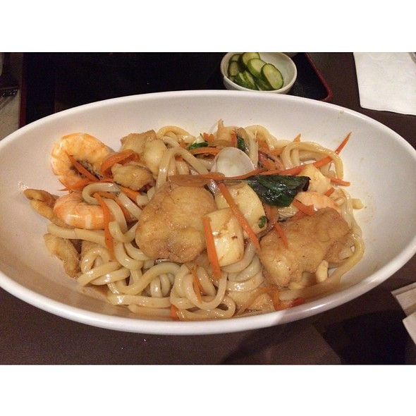 Seafood Udon Noodles @ Guppy House