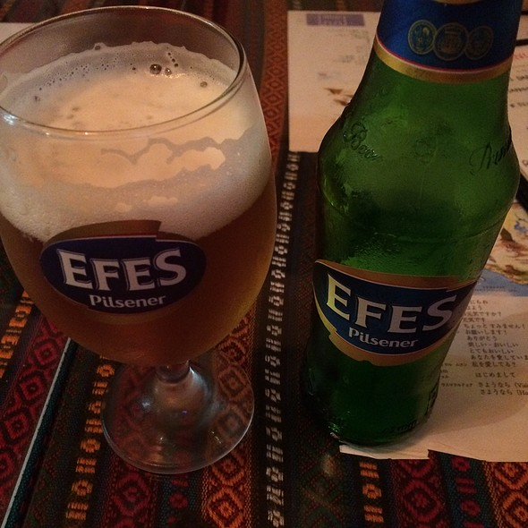 Efes Beer @ トルコ料理レストラン ヒサル