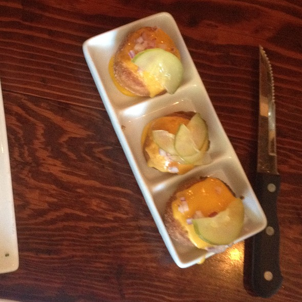 Boneyard's Kobe Beef Chili Cheese Donuts - Boneyard Bistro, Sherman Oaks, CA