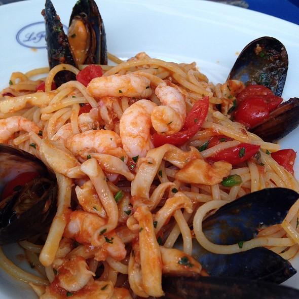 Seafood Linguini - La Famiglia, London