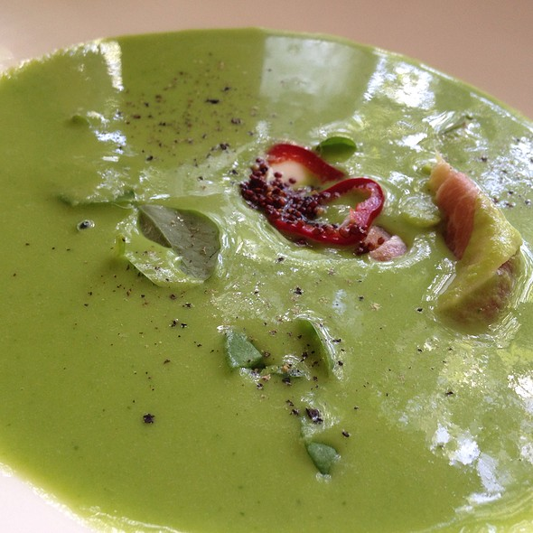 Chilled English Pea Soup @ The Mansion Restaurant at Rosewood Mansion on Turtle Creek