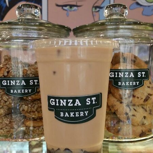 Iced Milk Black Tea With Boba @ Ginza St bakery