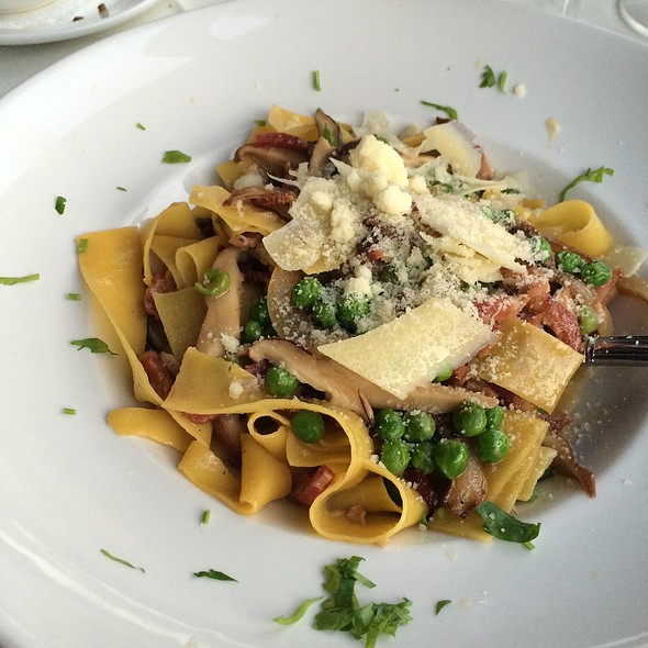 Papardelle With Mushrooms, Pancetta, And Truffle Oil @ Pensare Italian Bistro