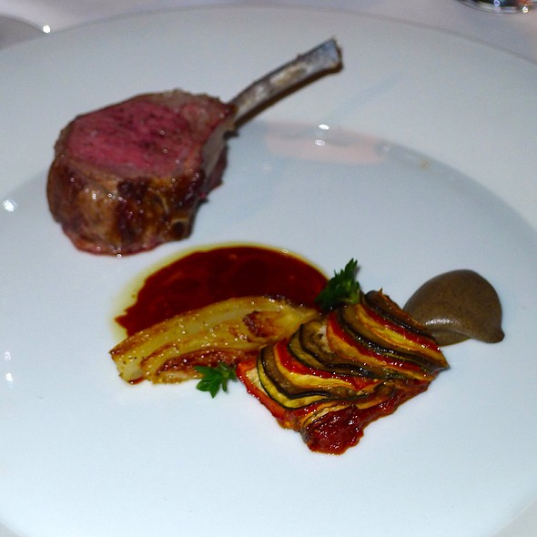 Rack Of Lamb With Ratatouille  @ The French Laundry