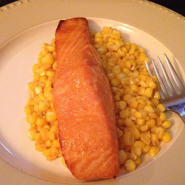 Siracha Salmon And Corn @ The Mansion