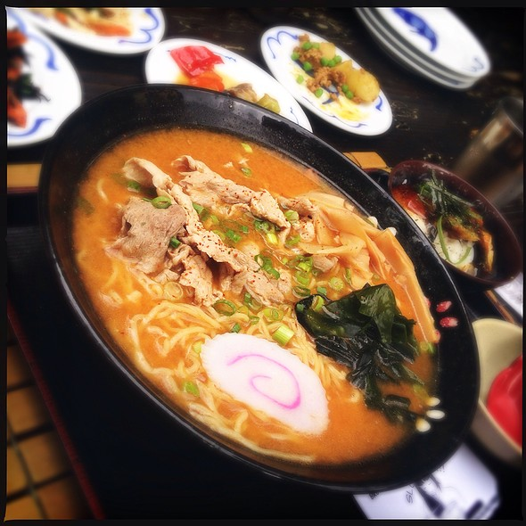 Spicy Miso Dashi Pork Ramen Bowl @ Domo Restaurant
