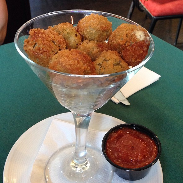 Fried Blue Cheese Stuffed Olives  - Cattle 'n Clover, Wildwood, NJ