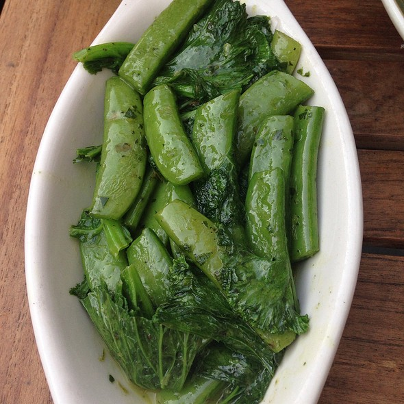 Snap Peas And Mustard Greens With An Herb Compound Butter @ The Meatball Shop