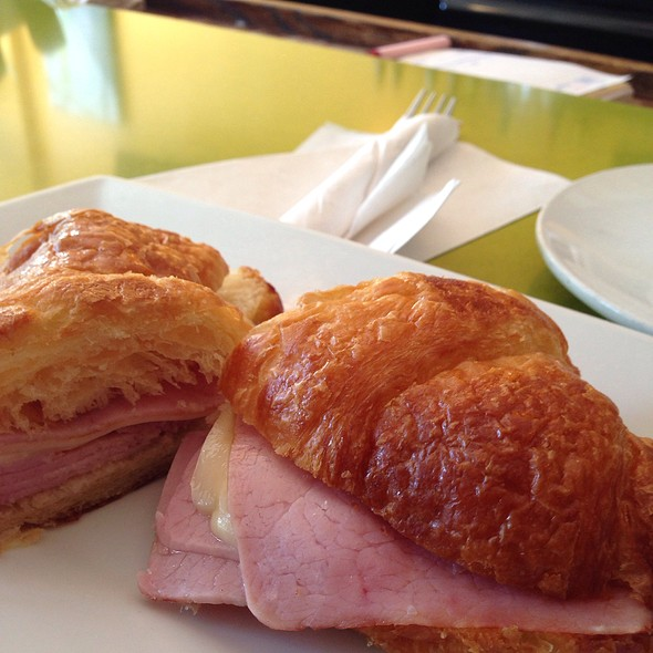 Ham And Swiss On A Croissant @ The Path Cafe