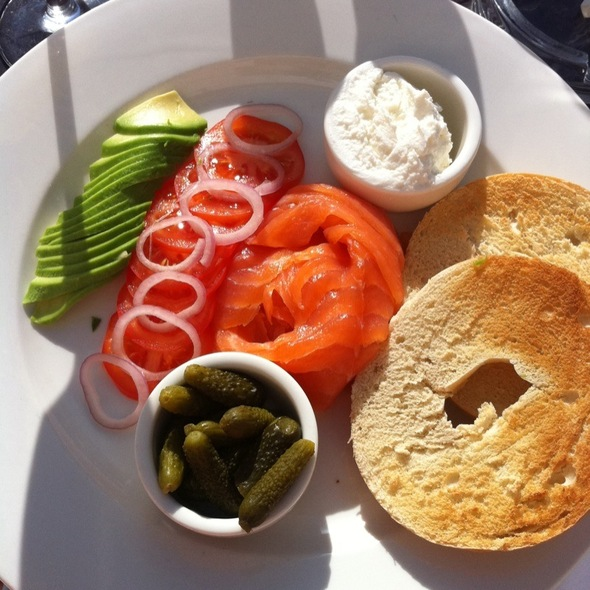 Smoke Salmon Bagel @ Pantechnicon Rooms