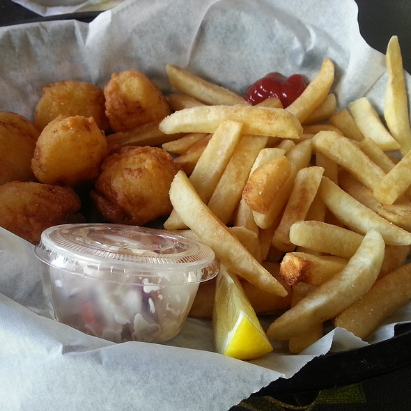 Fried Scallops And French Fries @ The Crab Shack