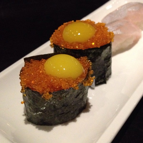 Tobiko and Quail egg @ Wasabi Bistro